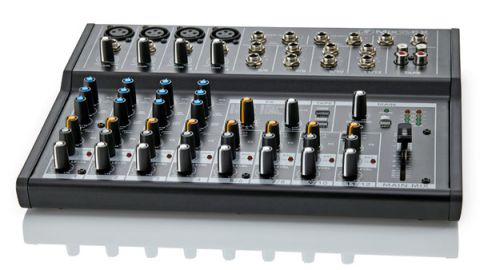 You get four mic/line channel strips all with three-band EQ, plus a further eight inputs spread across four stereo channels
