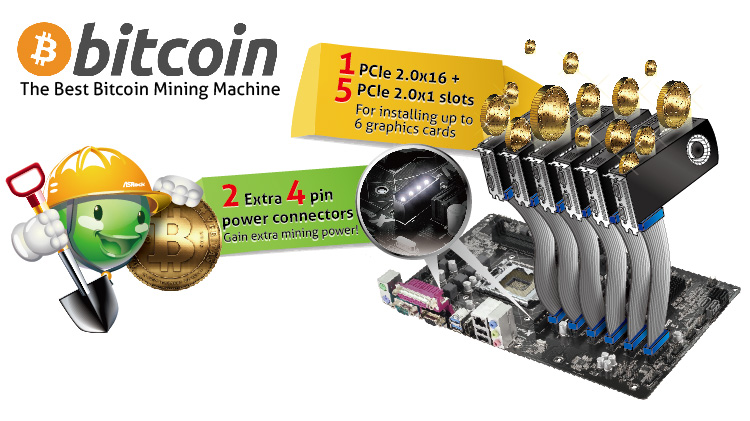 ASRock Releases Motherboards Designed To Mine Bitcoins Generate Internet Moolah