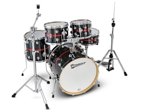 The birch kit - shells come in five finishes including this Blaze Sparkle Lacquer.