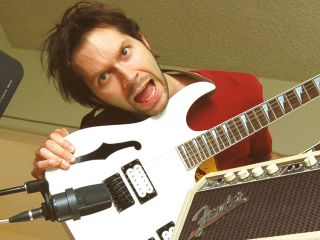 When it comes to mic'ing up his amp, Paul Gilbert likes to keep things simple.