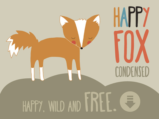 Free handwriting fonts: Happy Fox