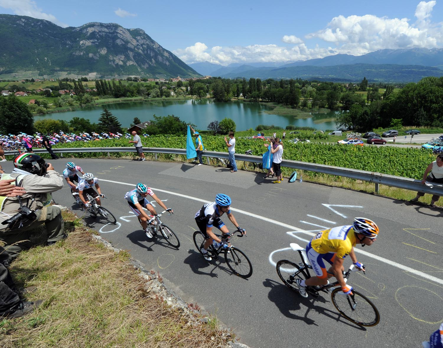 Lars Boom and scenery, Criterium du Dauphine 2011, stage one