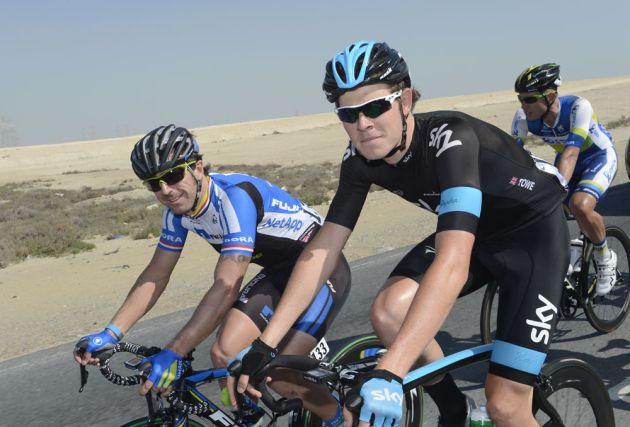 Luke Rowe and Russell Downing, Tour of Qatar 2013, stage 3