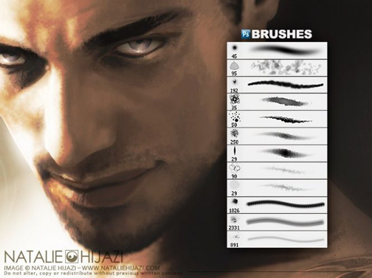 Photoshop brushes: Scar face