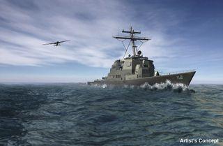 drone at sea artist concept