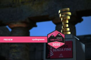 The trophy during the 103rd Giro d'Italia 2020 Team Presentation in Archaeological Park of Segesta in Palermo City