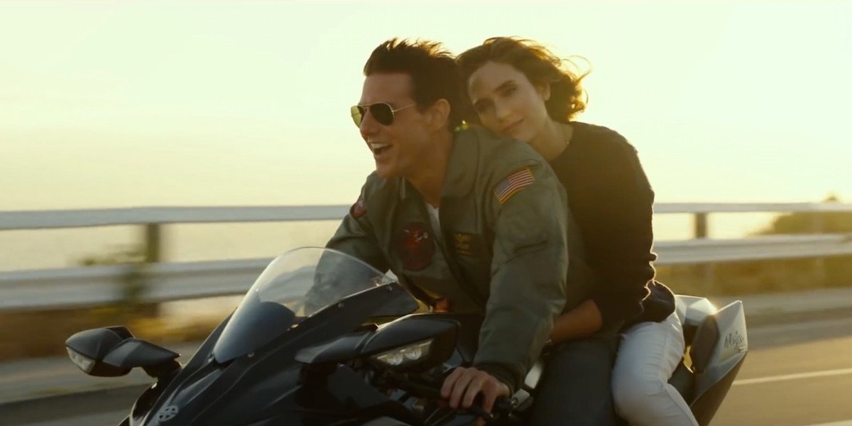 Tom Cruise and Jennifer Connelly in Top Gun: Maverick