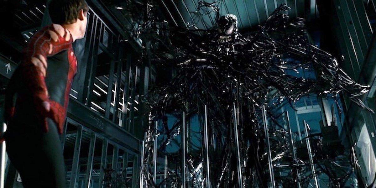 Tobey Maguire Spider-Man and Venom in Spider-Man 3