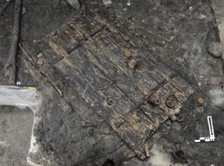 This 5,000-year-old wooden door was found in a village buried on the shores of Lake Zurich in Switzerland.