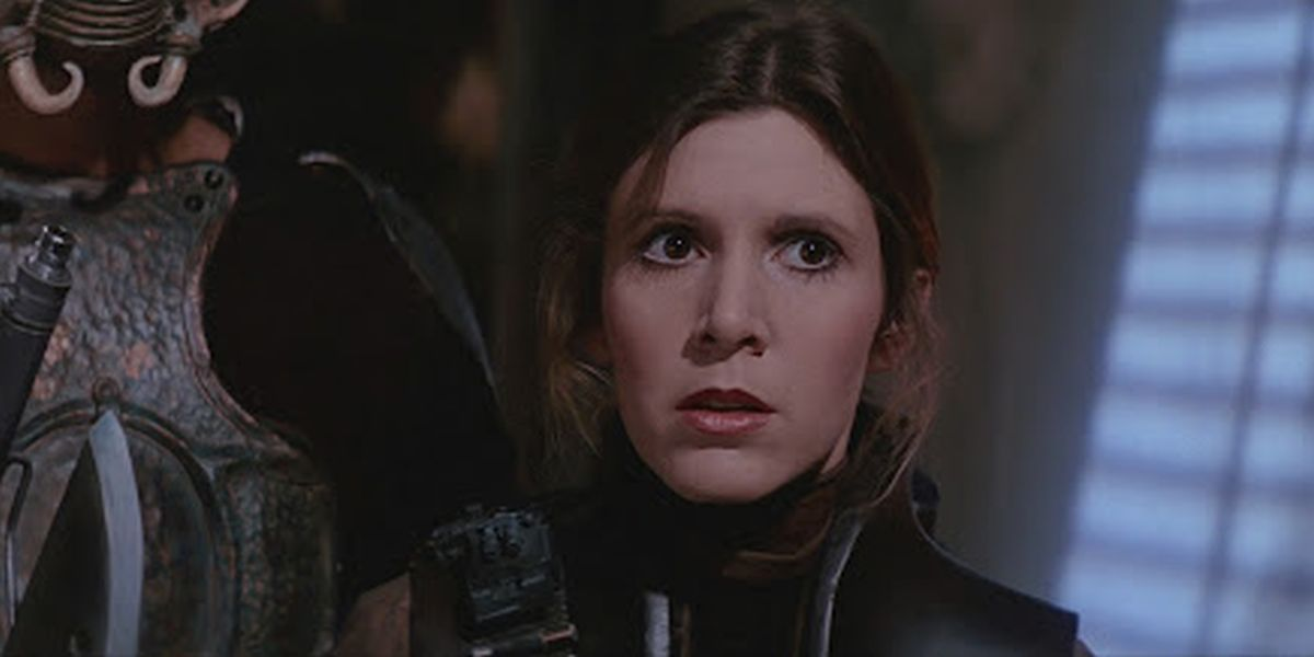 Carrie Fisher as Leia in Return of the jedi