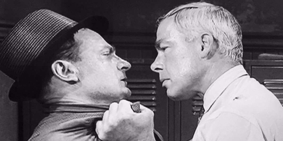 From left to right: Joe Mantell and Lee Marvin