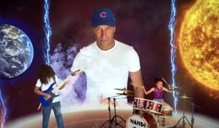 (from left) Roman Morello, Tom Morello and Nandi Bushell in their new The Children Will Rise Up music video