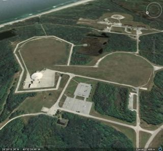 Aerial view of Space Launch Complex 36 at Florida's Cape Canaveral Air Force Station. Moon Express will be using the historic site for spacecraft development and flight tests.