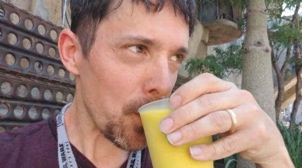 Drinking green milk
