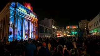 Panasonic projectors powered exhibitions at LUMA, a projection mapping festival held this September in Binghamton, NY.