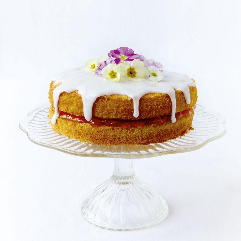 Easter sponge cake photo
