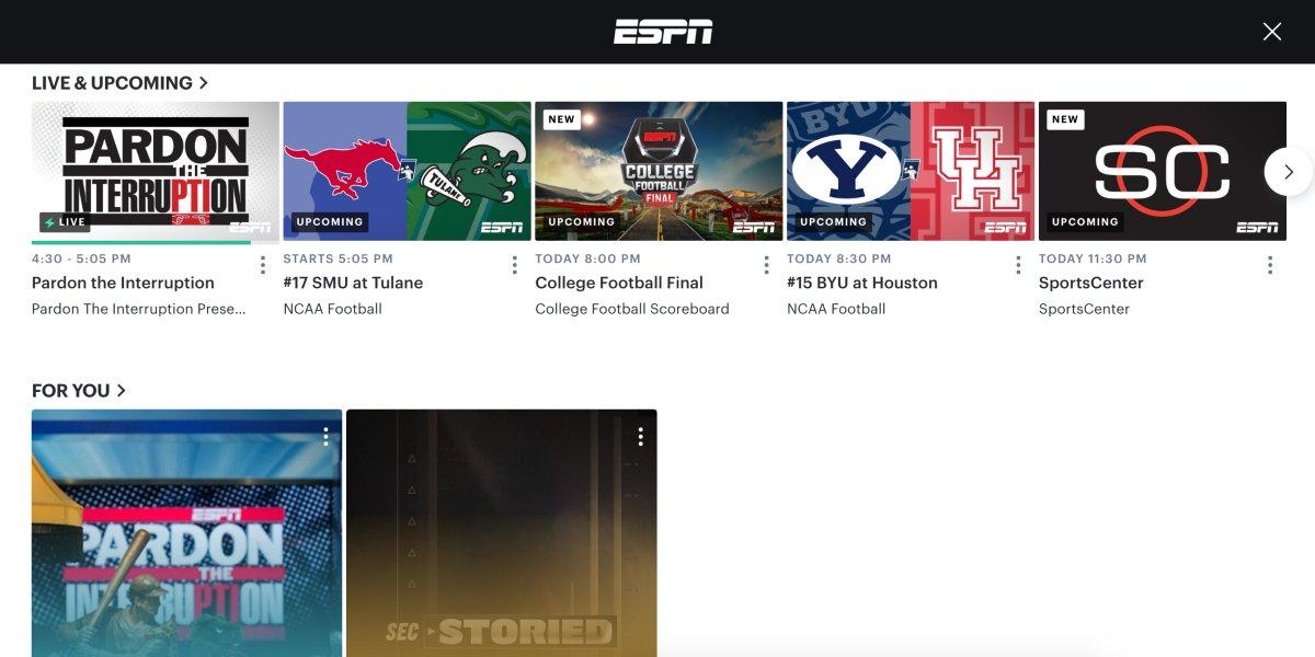 ESPN on Hulu Live TV