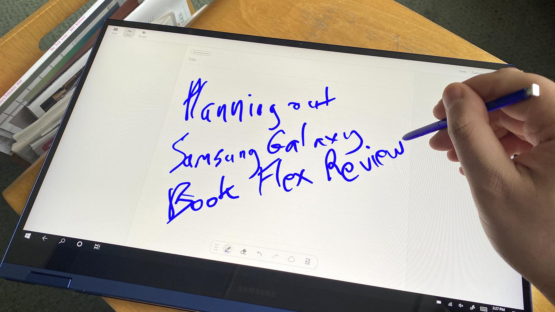 best touchscreen laptops: Samsung Galaxy Book Flex