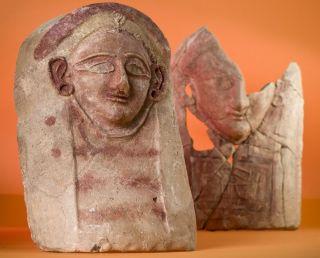 The remains of at least four female heads, made out of ceramic, have been discovered at the ancient town of Porphyreon in Lebanon.