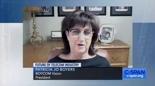 Screenshot of Patricia Boyers on CSPAN