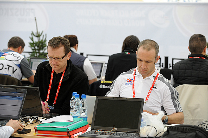 Jamie Staff and David Harmon commentate for British Eurosport