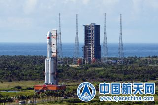 China's first Long March 7 rocket rolls out to its launchpad in June 2016. The debut launch of a new variant, the Long March 7A, apparently failed on March 16, 2020.