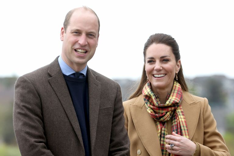 Kate Middleton and Prince William, Prince William, Duke of Cambridge and Catherine, Duchess of Cambridge arrive to officially open The Balfour, Orkney Hospital on day five of their week long visit to Scotland on May 25, 2021 in Kirkwall, Scotland