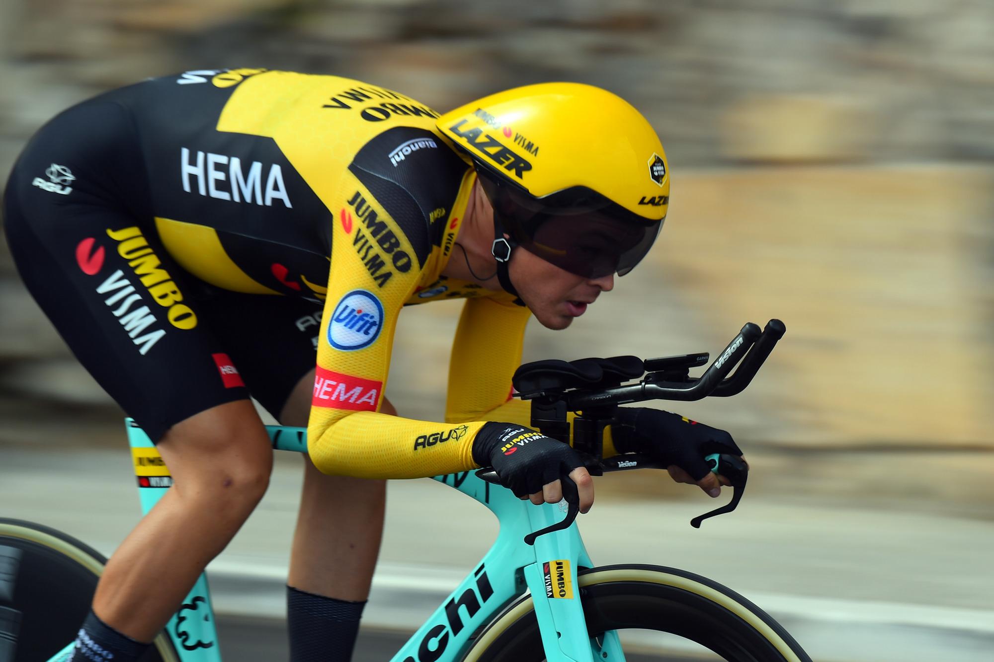 Giro d'Italia 2020 - 103th Edition - 1st stage Monreale - Palermo 15,1km - 03/10/2020 - Tobias Foss (NOR - Team Jumbo - Visma) - photo Dario Belingheri/BettiniPhoto©2020