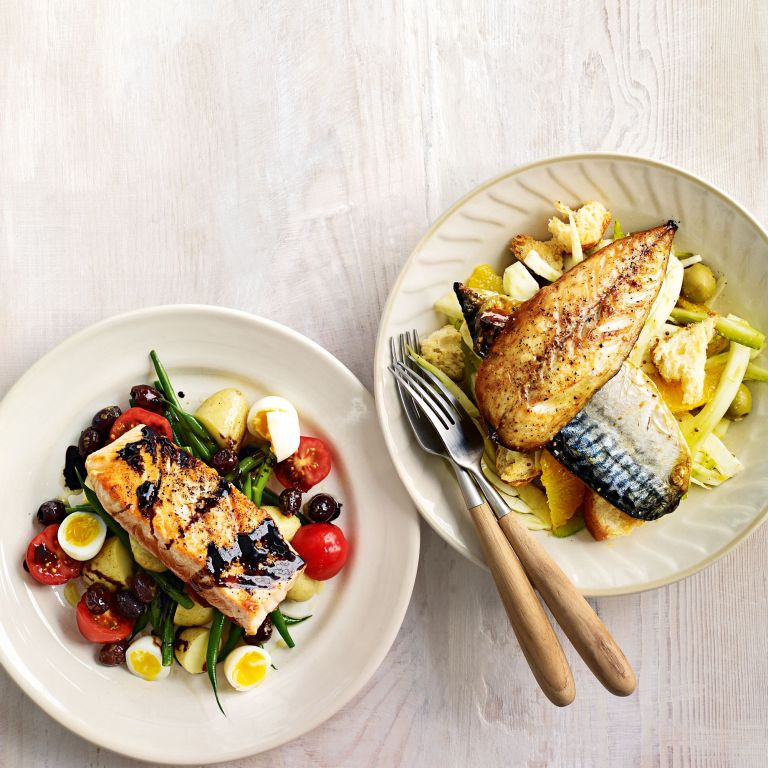 Seared Salmon with Beans and Quails' Eggs Recipe-recipe ideas-new recipes-woman and home
