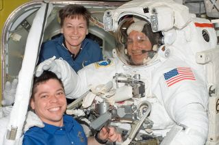 NASA chief astronauts Peggy Whitson and Robert Behnken.