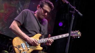 John Mayer playing Wolf guitar
