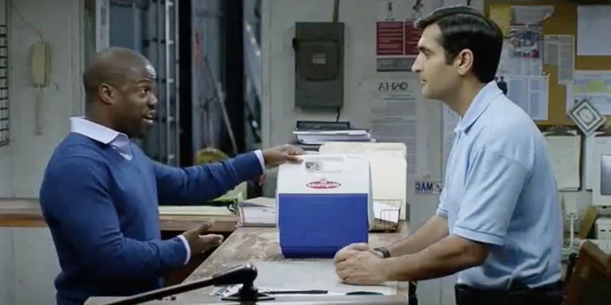 Kevin Hart and Kumail Nanjiani in Central Intelligence