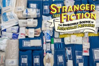 """The medical kit flown on the last mission of NASA's space shuttle Endeavour is on display as part of """"Stranger Than Fiction: The Incredible Science of Aerospace Medicine"""" running July 3, 2021 to Feb. 6, 2022 at The Museum of Flight in Seattle, Washington."""