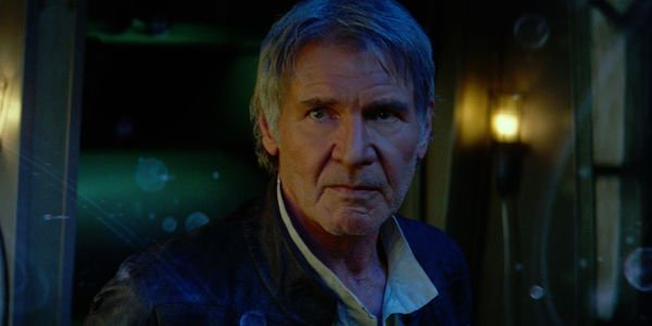 Harrison Ford as Han Solo in Star Wars: The Force Awakens