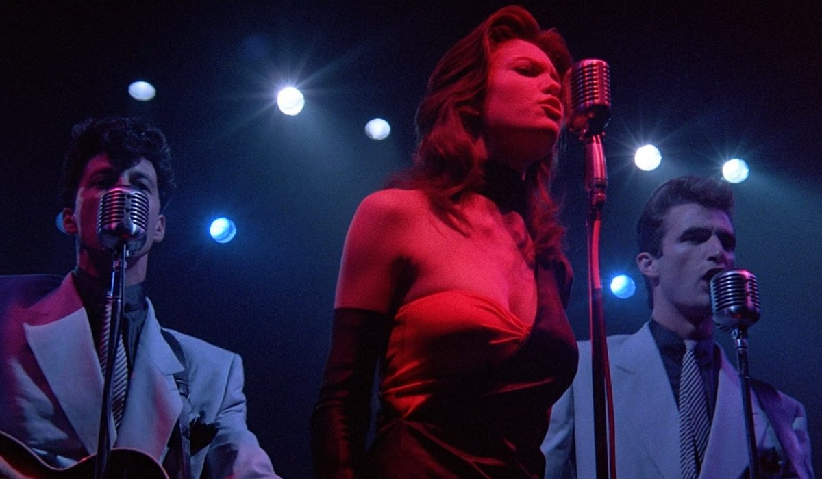Diane Lane sings with the band in Streets of Fire.