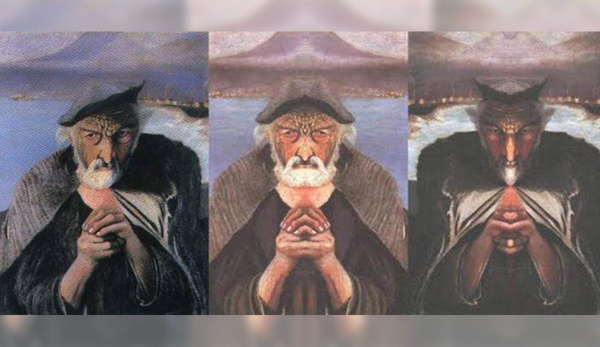 This painting has a shocking and sinister secret