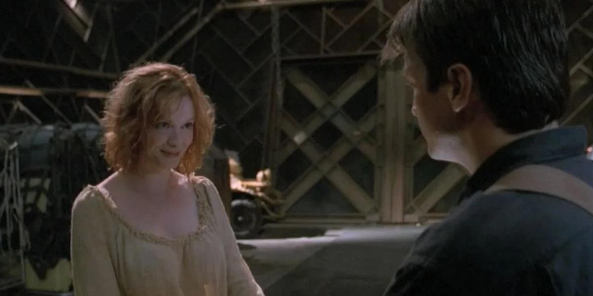 Christina Hendricks and Nathan Fillion in Firefly