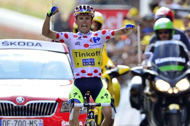 Rafal Majka wins stage seventeen of the 2014 Tour de France