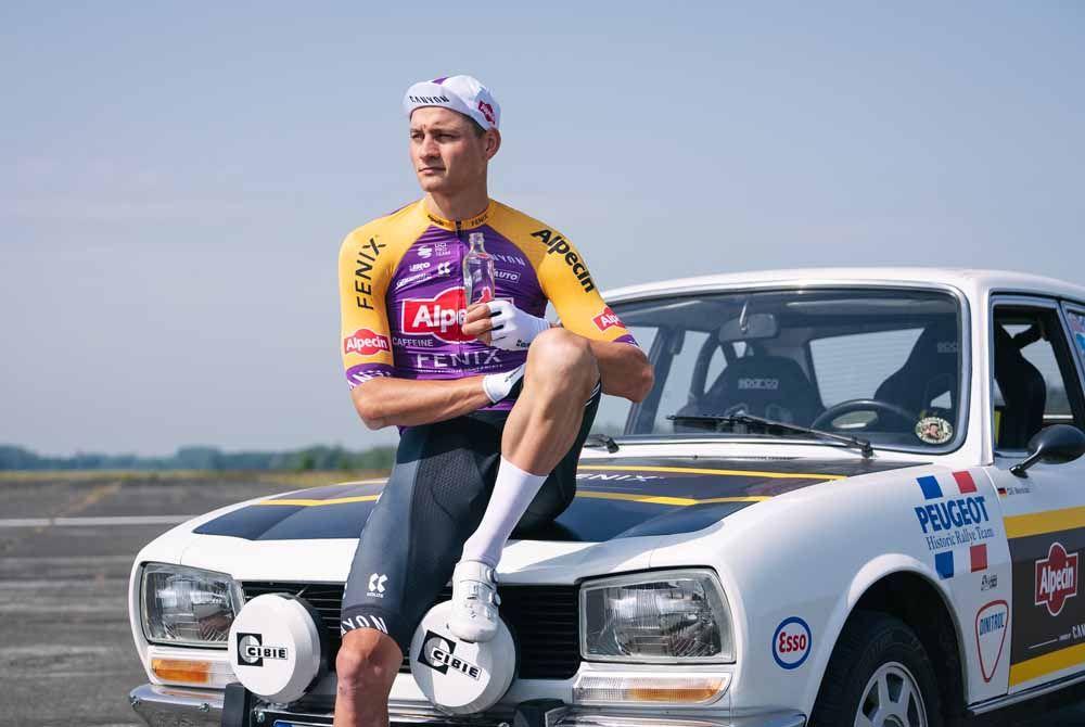Mathieu van der Poel rocks Poulidor-inspired kit for Tour de France presentation