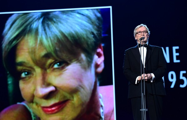 Bill Roache pays tribute to Anne Kirkbride at the National Television Awards