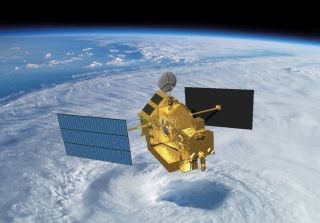 An illustration of the 3-ton Tropical Rainfall Measuring Mission satellite, which will fall to Earth on Tuesday, June 16, at 12:02 a.m. EDT to end its 17-year mission, according to NASA.
