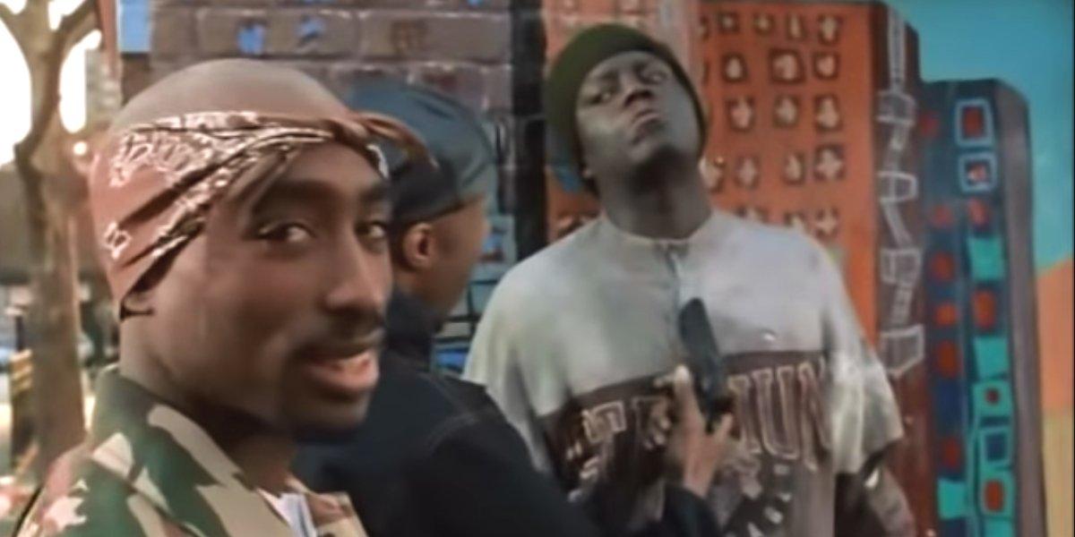 Tupac Shakur and Bernie Mac in Above The Rim