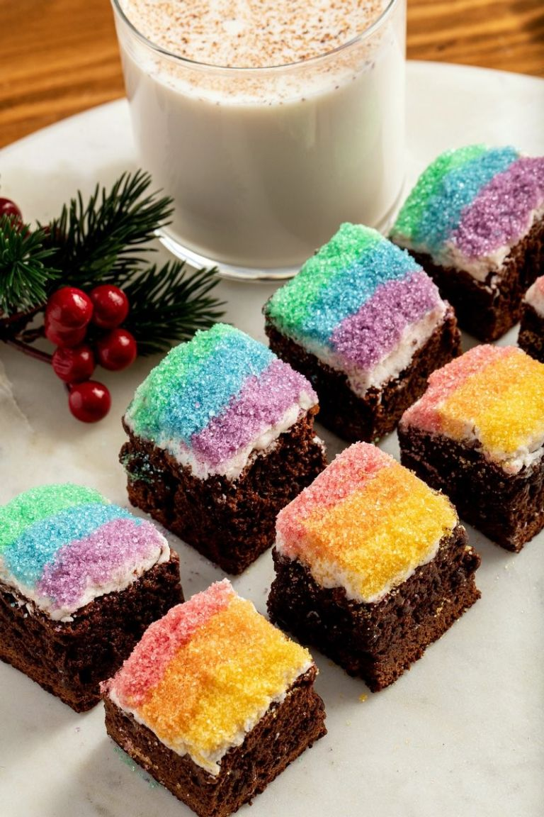 Gingerbread brownies by The Home Edit