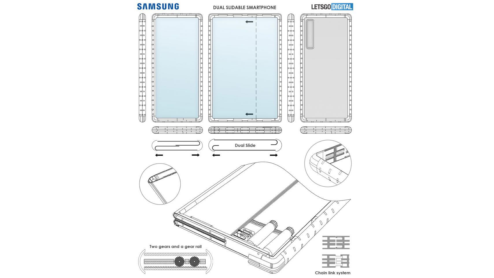 Samsung rollable smartphone