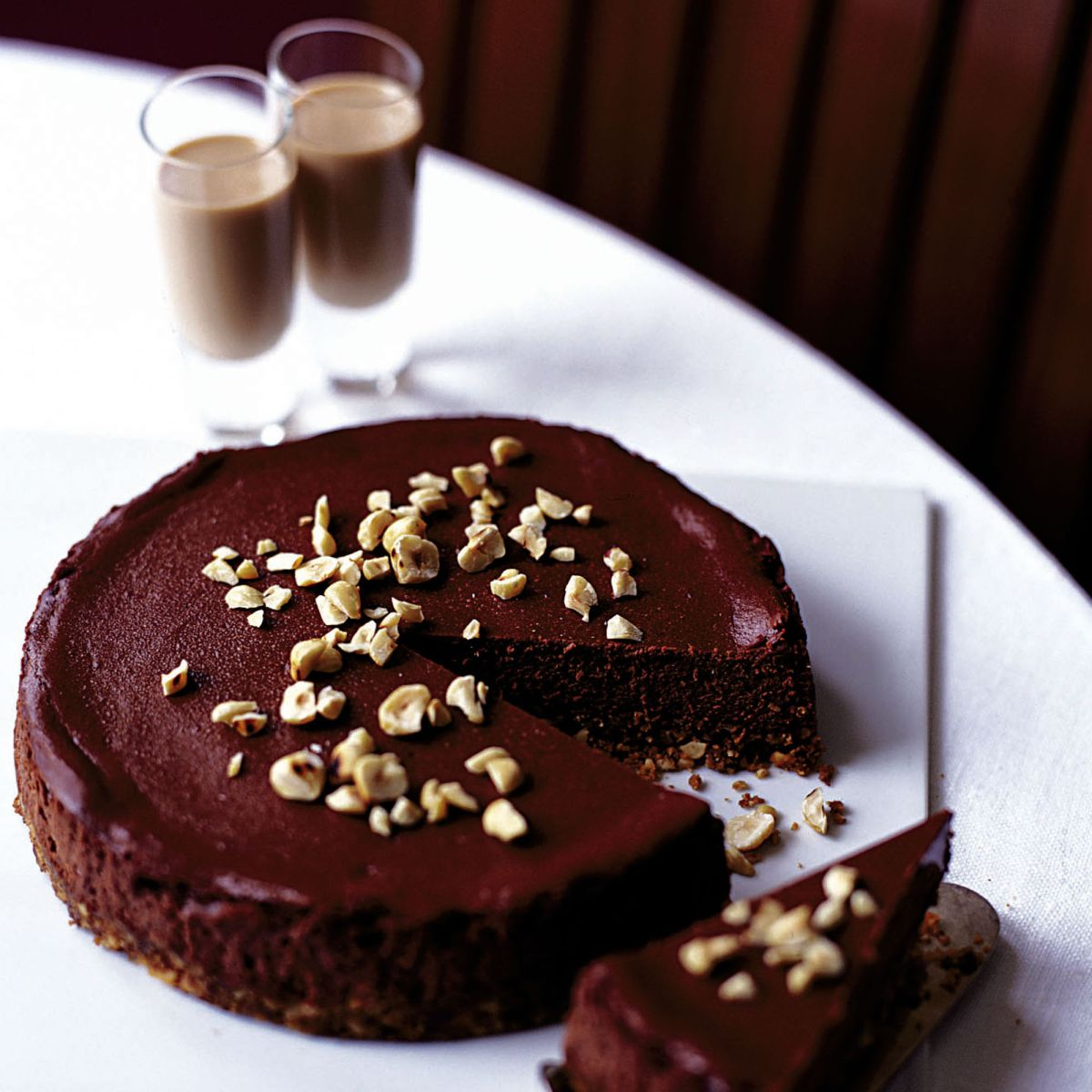 Make this chocolate, hazelnut and amarula cheesecake for a decadent end to your feast
