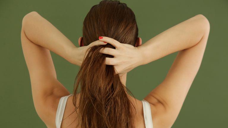 woman straight hair