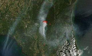 florida wildfire images, wildfire photos, county line fire, where fires are happening, where fires are burning, current wildfires