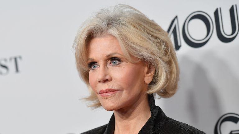 Jane Fonda on the red carpet