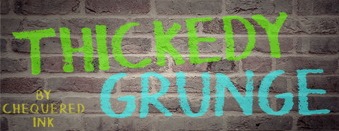 Free graffiti fonts: Thickedy Grunge
