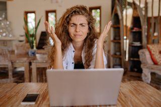 Woman frustrated at laptop. Yan Krukov via Pexels